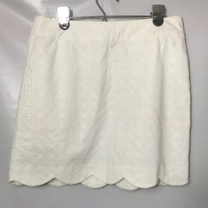 Vineyard Vines Scallop White Eyelet Skirt Sz 2